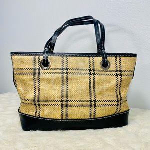 Maxx New York Leather and Raffia Satchel/Handbag